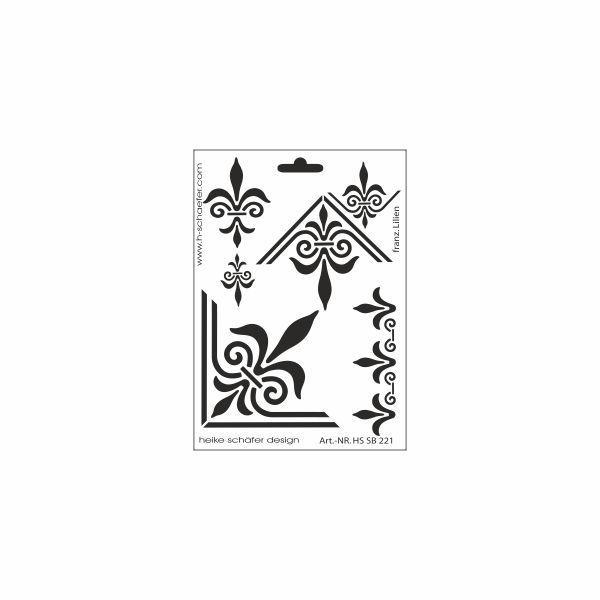 schablone din a5 franz sische lilie ina sch fer online shop. Black Bedroom Furniture Sets. Home Design Ideas