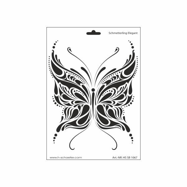 Schablone DIN A4 - Schmetterling elegant - Ina Schäfer Online-Shop