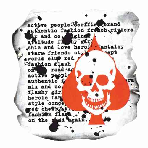 Color Transfer - Motiv Totenkopf mit Text