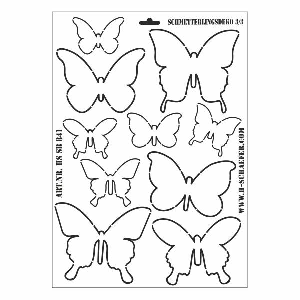 Schablone DIN A3 - Schmetterlingsdeko 3/3 - Ina Schäfer Online-Shop