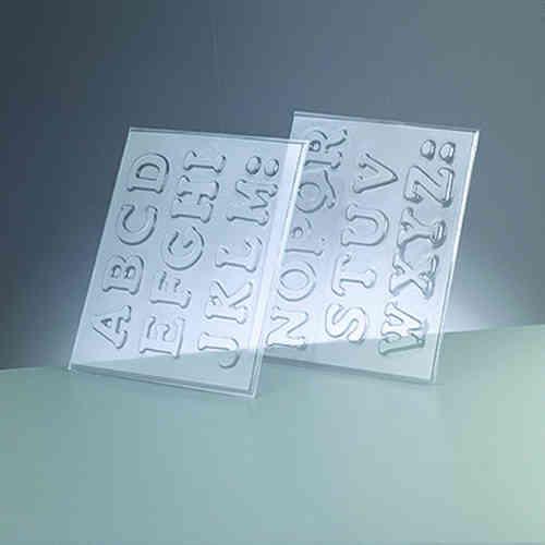 Buchstaben gießform selber machen