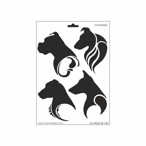 Schablone Terrier auf A4