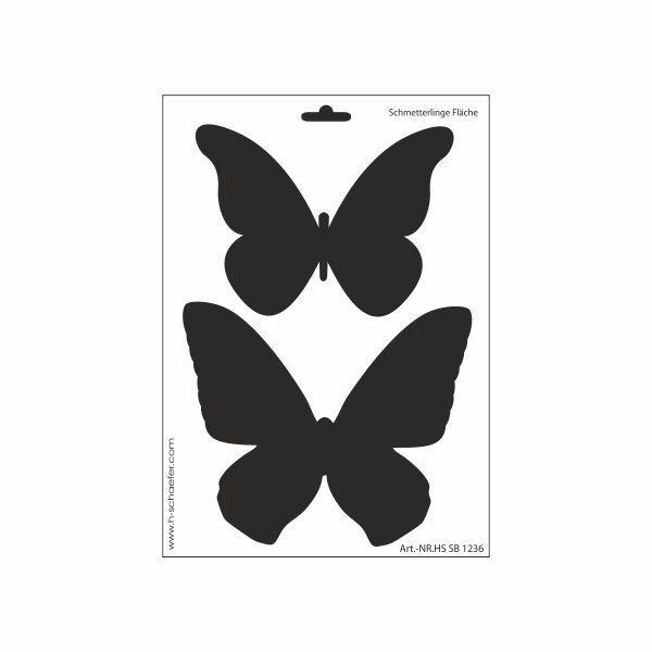 Schablone DIN A4 - Schmetterlinge Fläche - Ina Schäfer Online-Shop