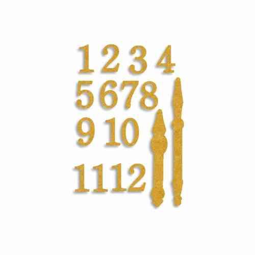Mdf Dekoration Zahlen Und Zeiger Klassisch Fur Deko Uhren