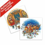 Aquatransfers-Set - Weihnachtsmotive - 2 teilig  / 2 Transfers
