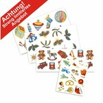 Aquatransfers-Set - Weihnachtsmotive - 4 teilig  / 47 Transfers