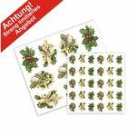 Aquatransfers-Set - Weihnachtsmotive - 2 teilig  / 39 Transfers
