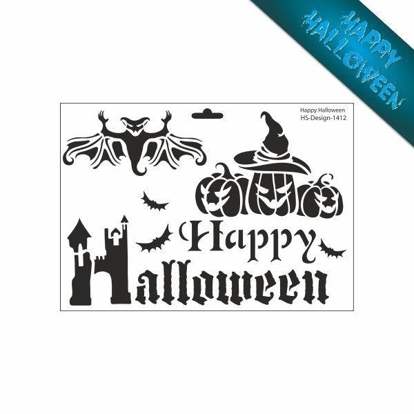 Schablone Din A4 Happy Halloween