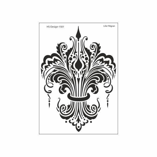 schablone din a4 lilie filigran ina sch fer online shop. Black Bedroom Furniture Sets. Home Design Ideas