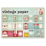 Exclusive Vintage Papiere - Collection vintage paper cupcake - 10 Bogen/DIN A4