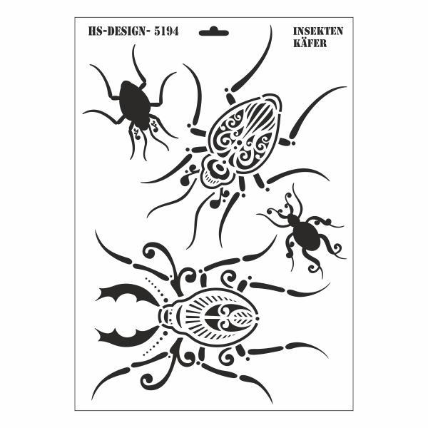 schablone din a3 insekten k fer ina sch fer online shop. Black Bedroom Furniture Sets. Home Design Ideas