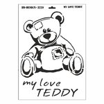 Schablone DIN A3 - My Love Teddy