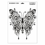 Schablone DIN A3 - Butterfly Charming