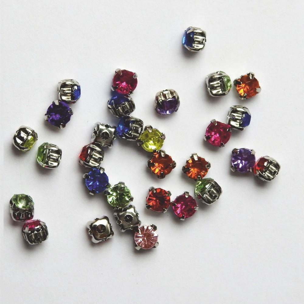 5 mm rund kristalle zum n hen oder kleben multicolor ina sch fer online shop. Black Bedroom Furniture Sets. Home Design Ideas