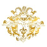 Edelmetall Transfer - Ornament - Gold