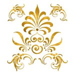 Edelmetall Transfer - Motiv Ornament - Gold