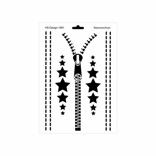 Schablone DIN A4 - Reissverschluss - Ina Schäfer Online-Shop