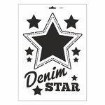 Schablone DIN A3 - Denim Star