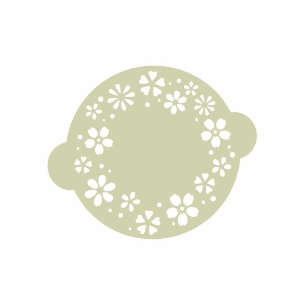 torten-schablone ornament - Ø 125 mm - ina schäfer online-shop