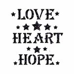 Foliendesign Limited Edition - Love, Heart, Hope - Hologramm Schwarz